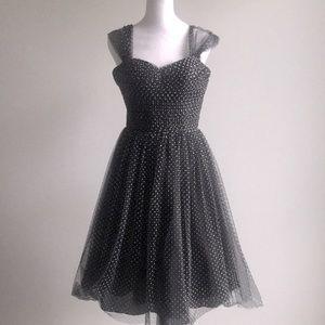 Unique Vintage polka dot prom cocktail dress